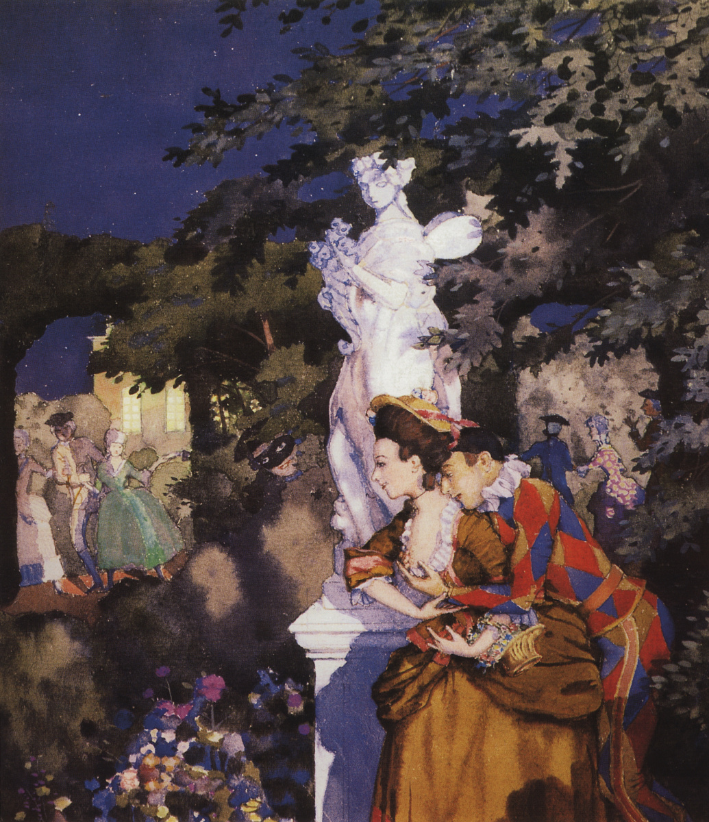 Konstantin Somov. Love The Harlequin
