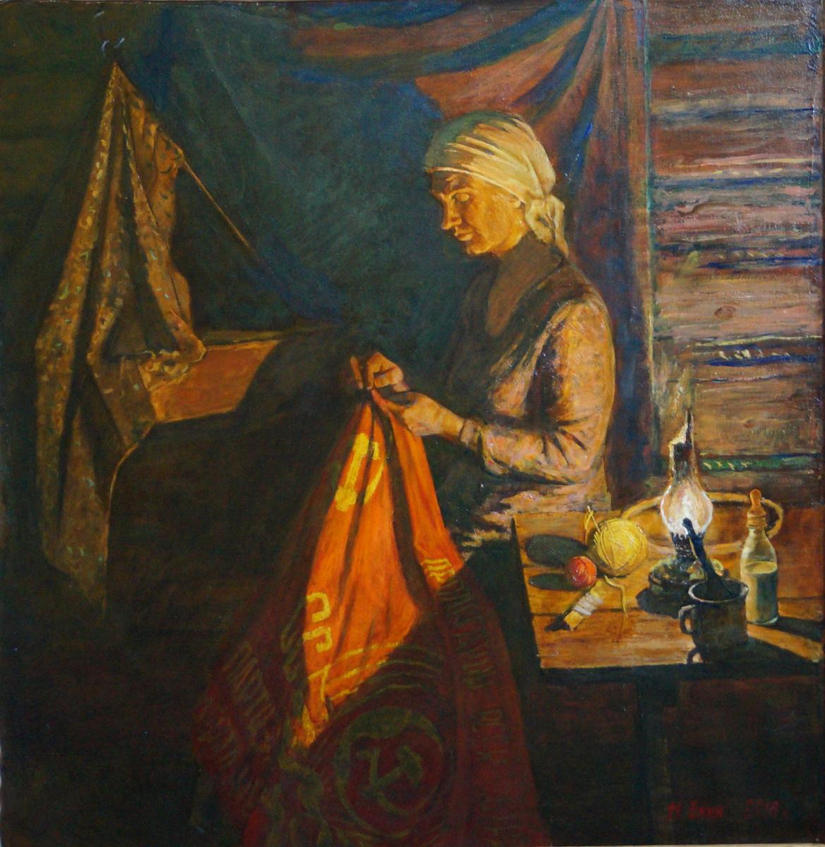 "Nikolay Alekseevich Enin. ""Partisan banner"""