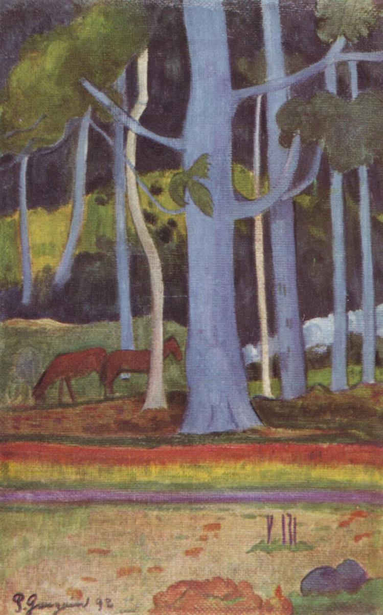 Поль Гоген. Пейзаж на Таити