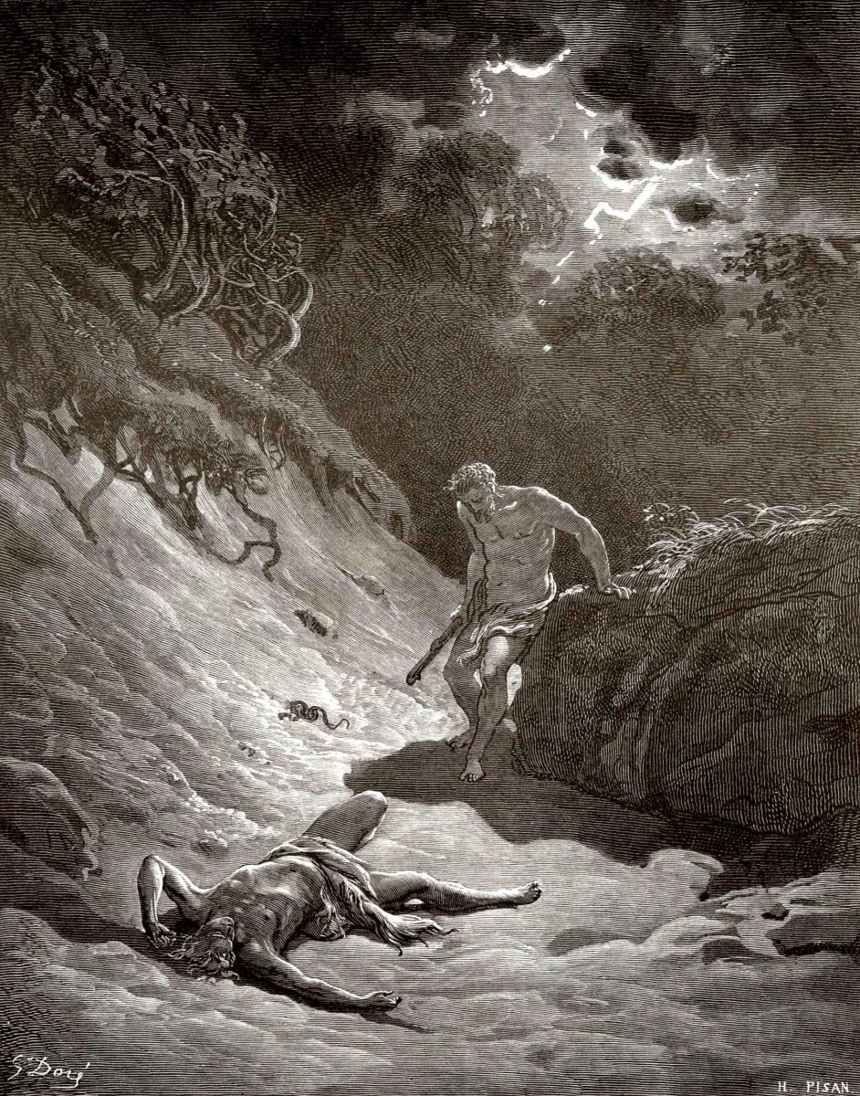 Поль Гюстав Доре. Иллюстрации к Библии: убийство Авеля