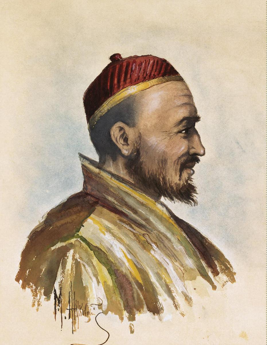 М. Жуковский. Портрет доктора Бадмаева
