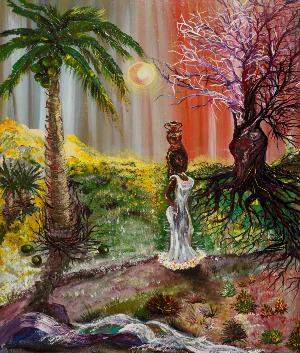 "Alla Struchayeva. The painting ""Two worlds"""
