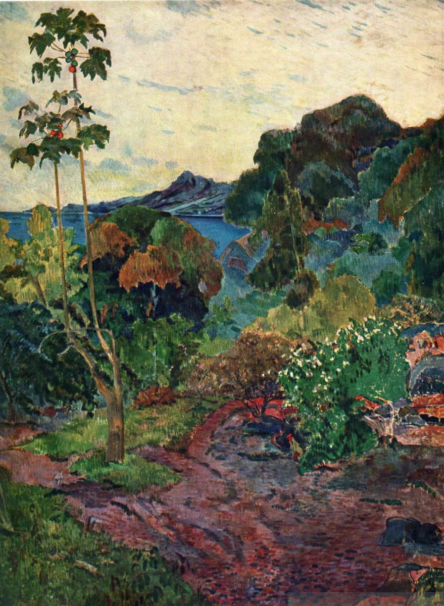 Поль Гоген. Пейзаж Мартиники