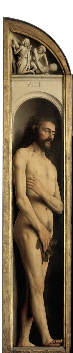 Jan van Eyck. The Ghent altarpiece. Adam (fragment)