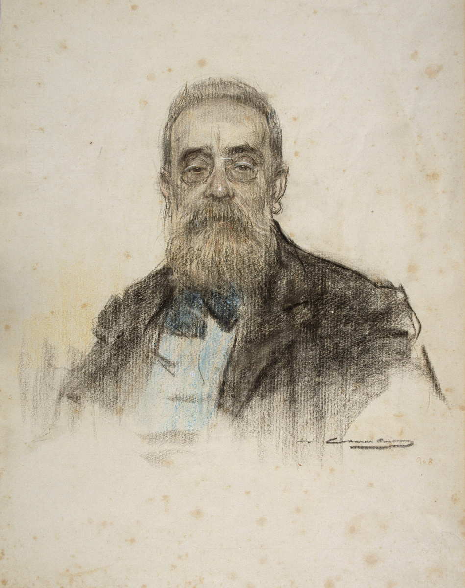 Рамон Касас Карбо. Портрет Сальвадора Санпера Микеля