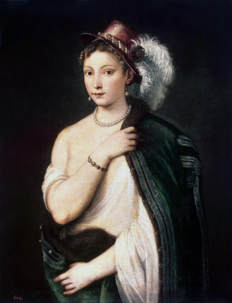 Тициан Вечеллио. Портрет молодой женщины