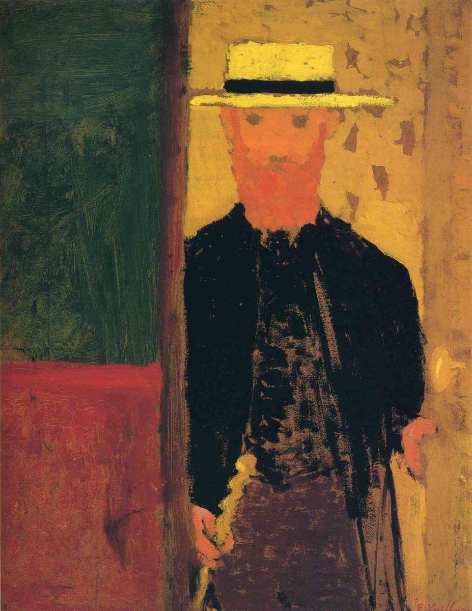 Жан Эдуар Вюйар. Автопортрет с тростью и в шляпе