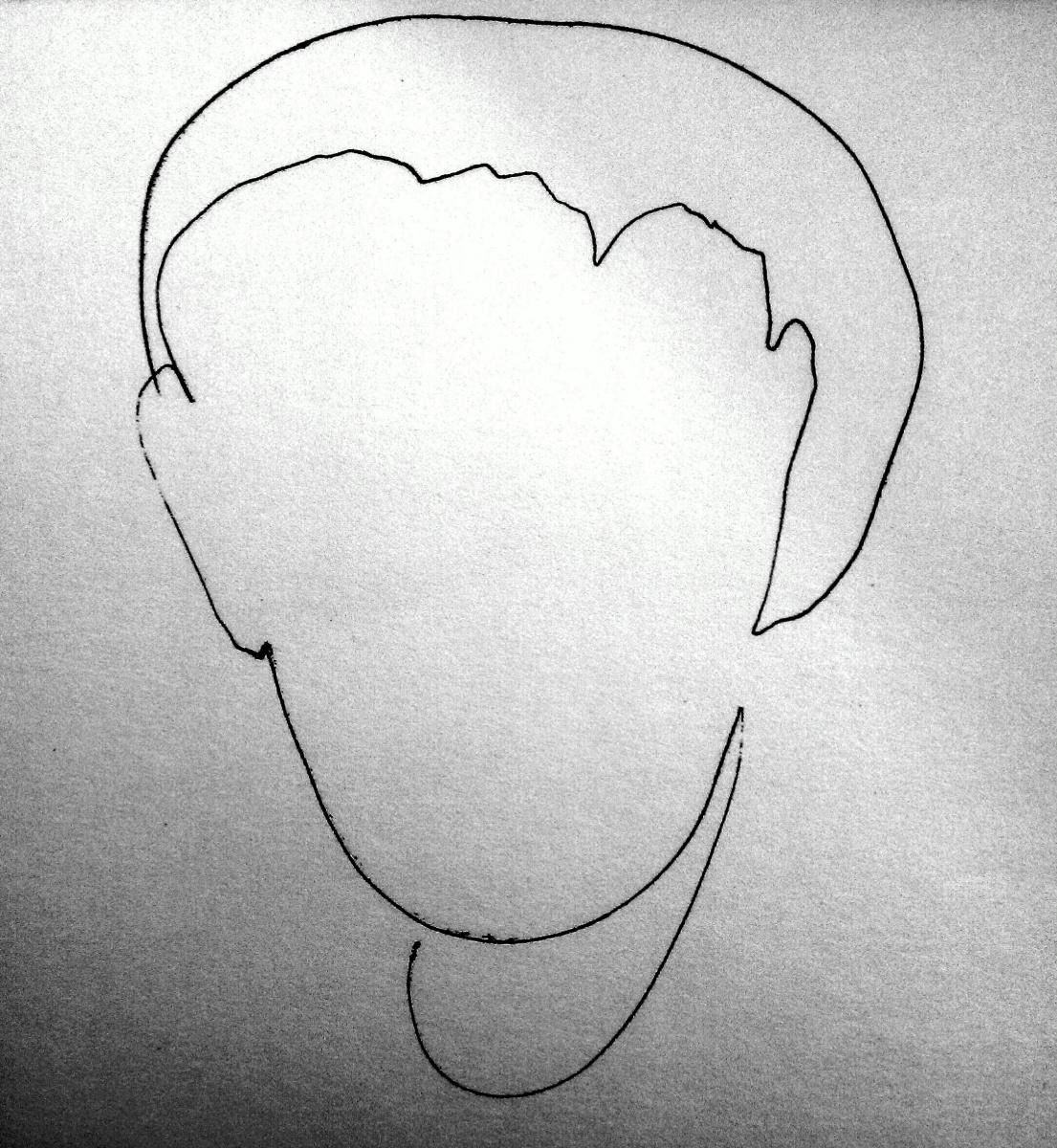 Krbtv _dm. Portrait in one striped. Self portrait
