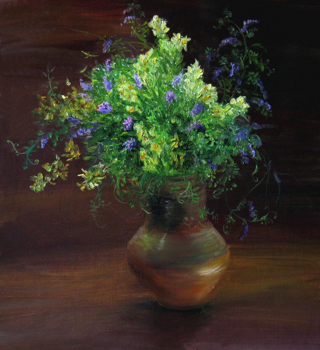 Marina Dmitrievna Razin. Flowers in the pot