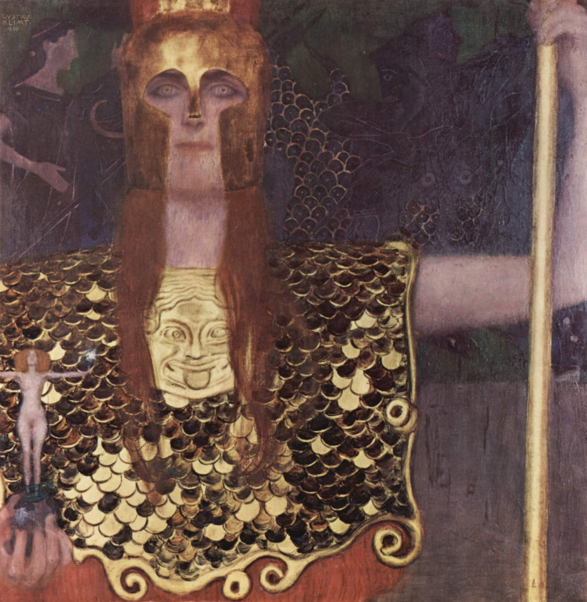 Gustav Klimt. Afina Pallada