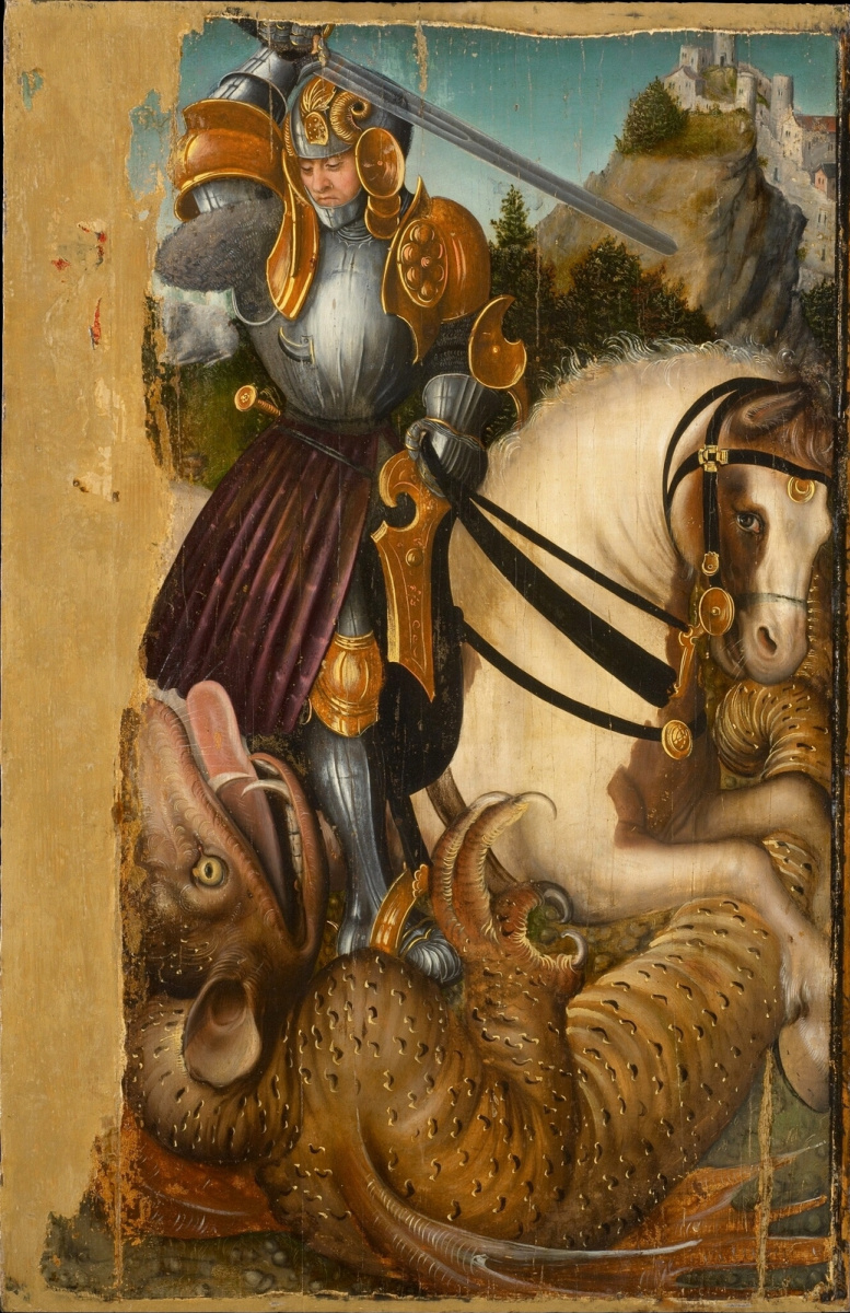 Лукас Кранах Старший. Святой Георгий и дракон