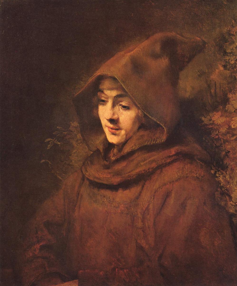 Рембрандт Ван Рейн. Портрет Титуса в одежде монаха