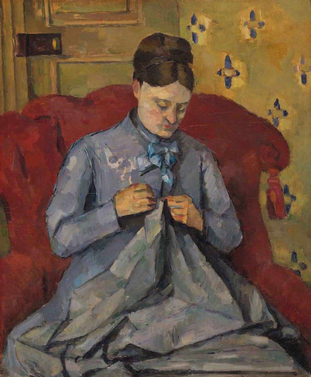 Paul Cezanne. Madame Cezanne sewing