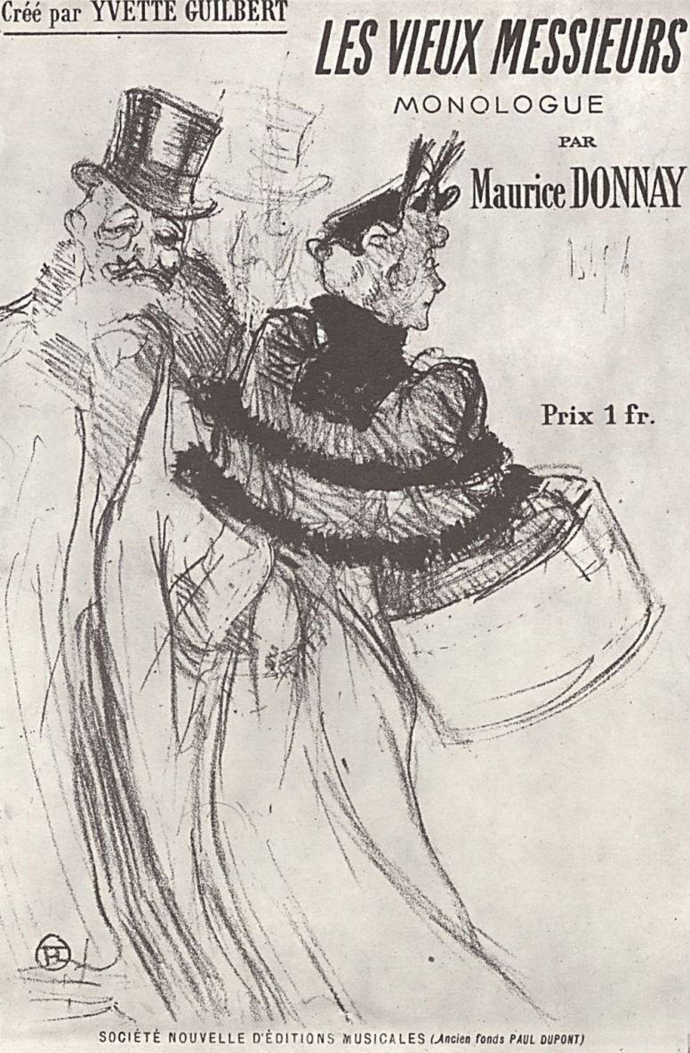 """Анри де Тулуз-Лотрек. Плакат """"Старики"""""""
