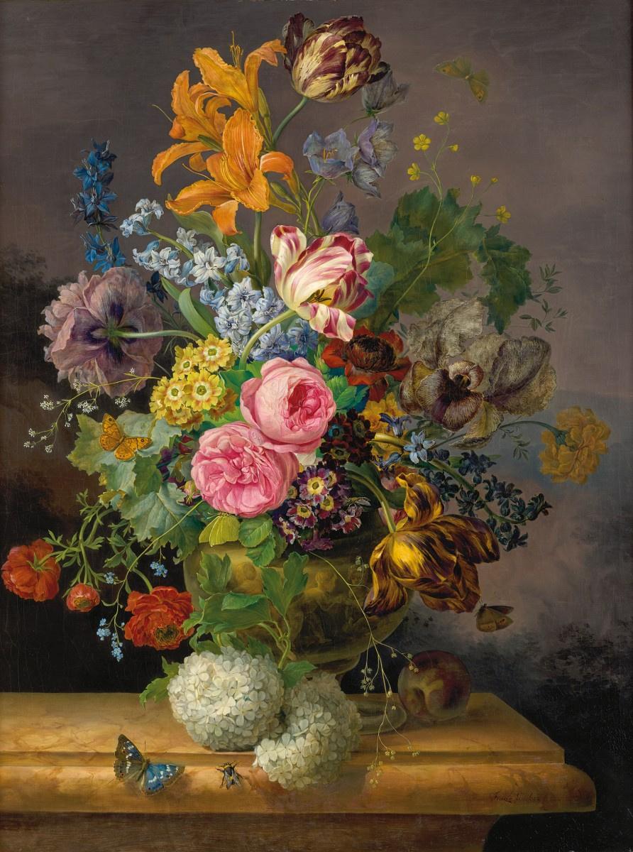 Франц Ксавьер Грубер. Натюрморт с цветами