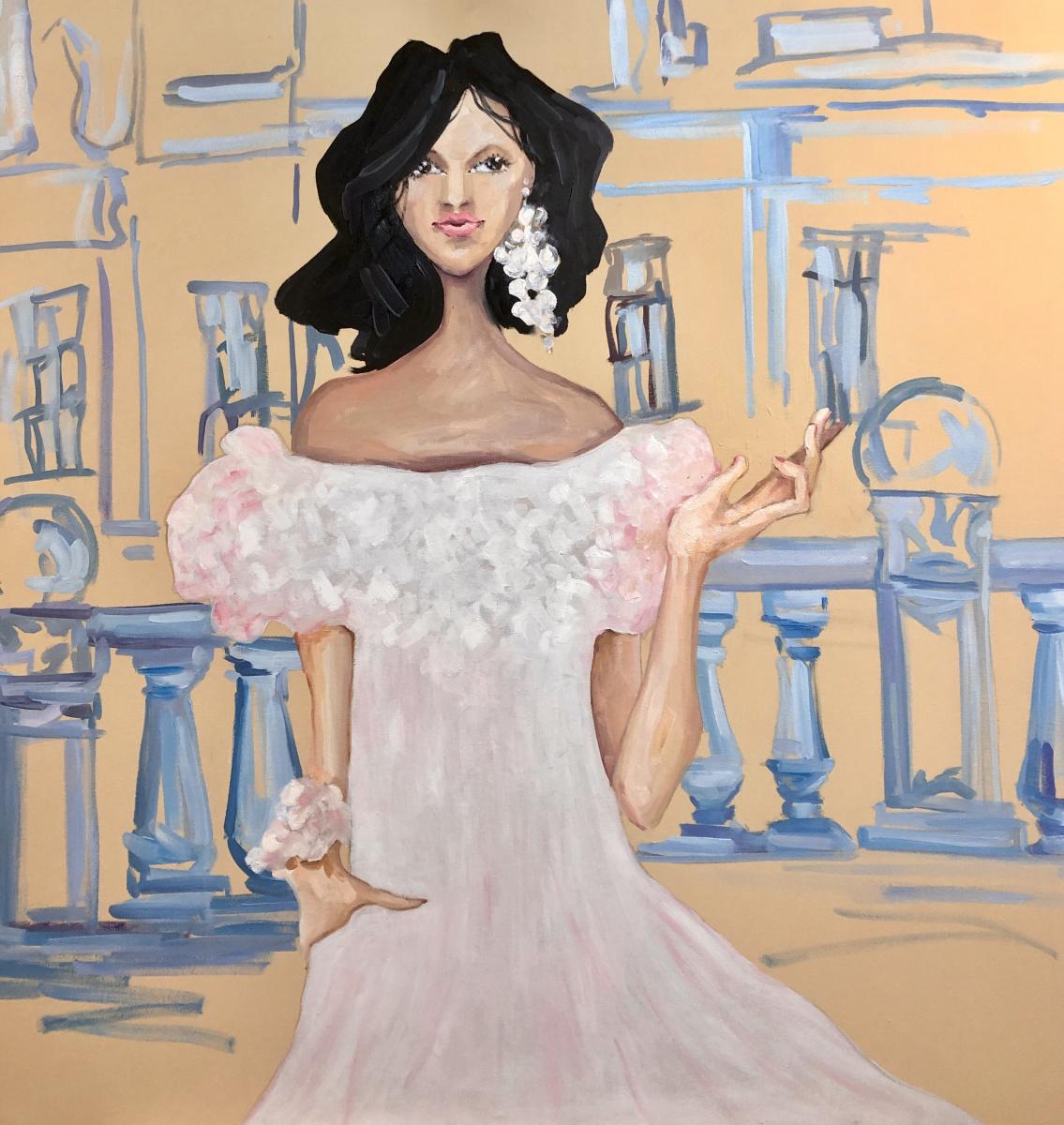 Natalia Shlyakhova. Girl in white dress