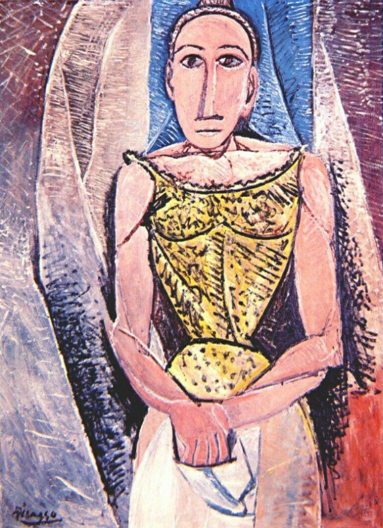 Пабло Пикассо. Женщина в желтом