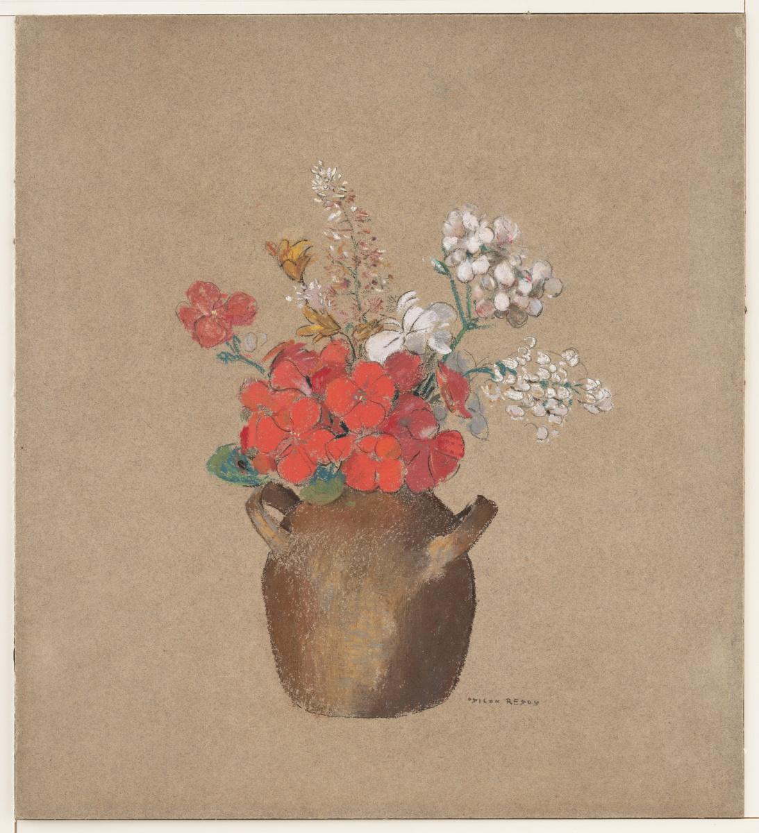 Одилон Редон. Ваза цветов