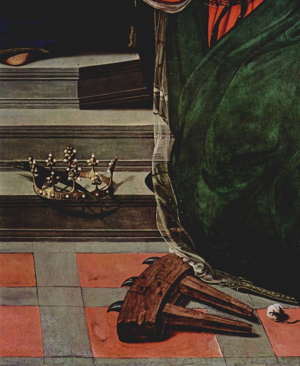 Пьеро ди Козимо. Мистическое обручение св. Екатерины Александрийской. Фрагмент