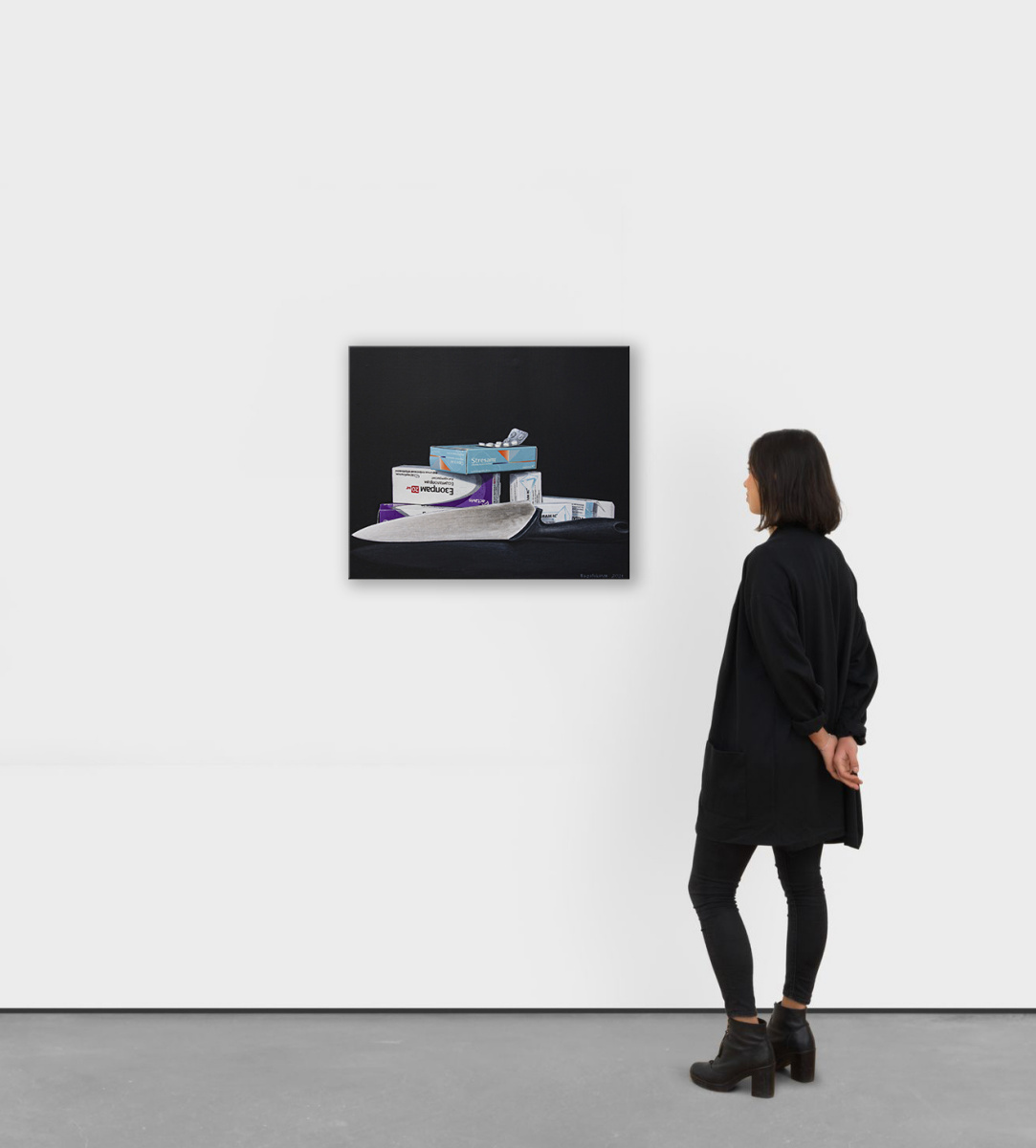 "Hyperrealistic acrylic still life ""Borderline state..."""