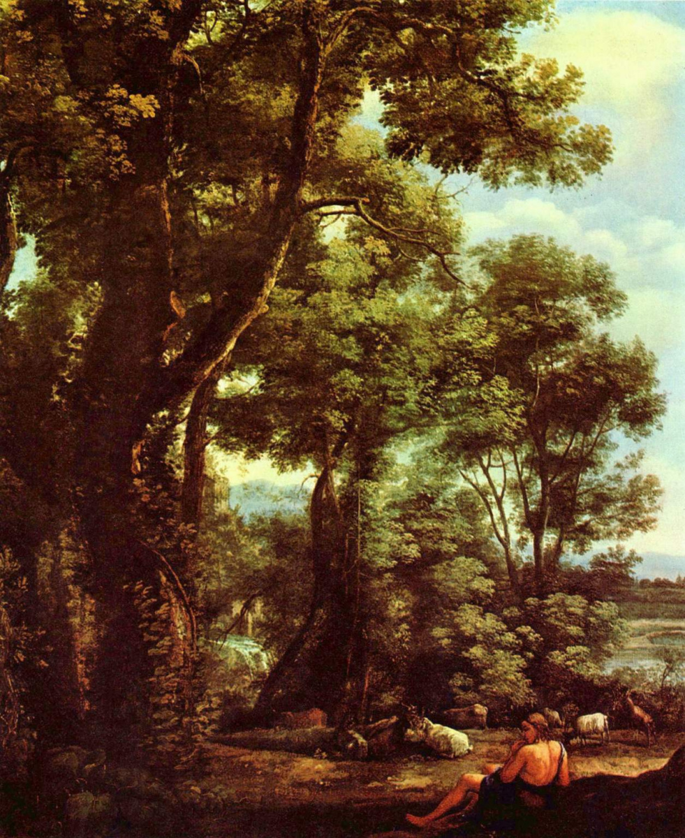 Клод Лоррен. Пейзаж с пастухом и козами