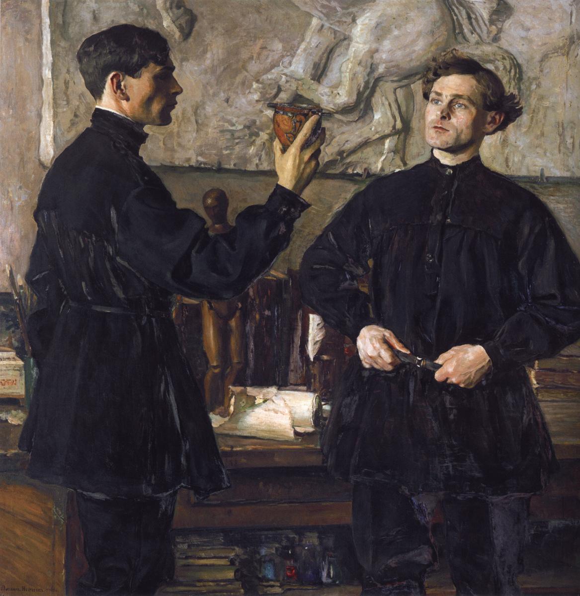 Mikhail Vasilyevich Nesterov. Portrait artists P. D. and A. D. Korenich