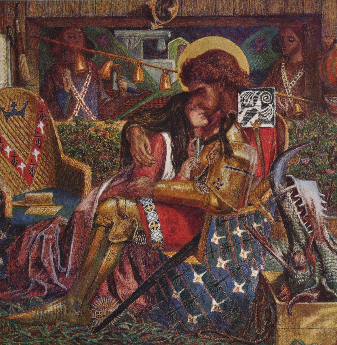 Dante Gabriel Rossetti. The wedding of Saint George and Princess Sabra