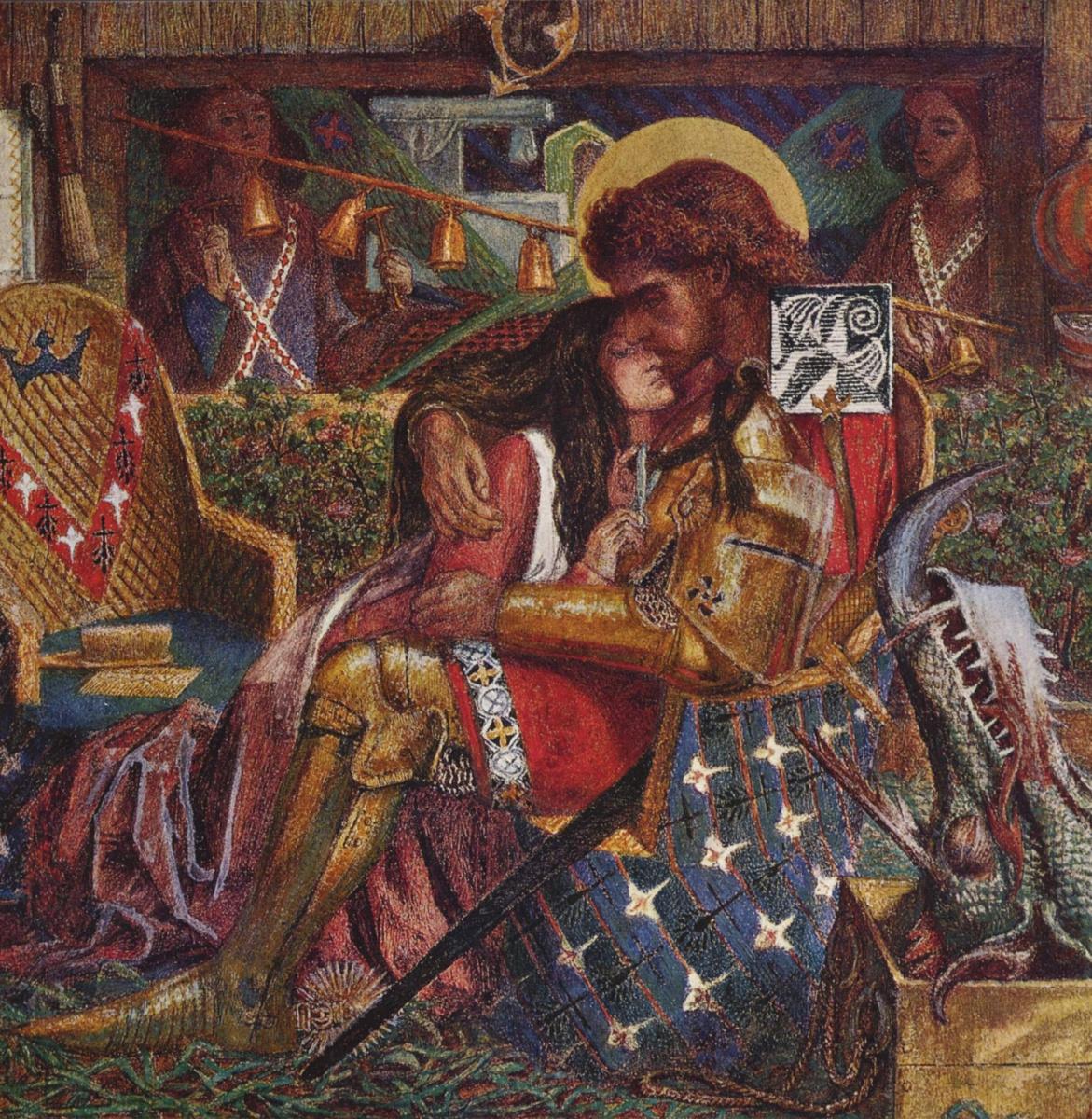 Dante Gabriel Rossetti. The wedding of Saint George and Princess Sabra
