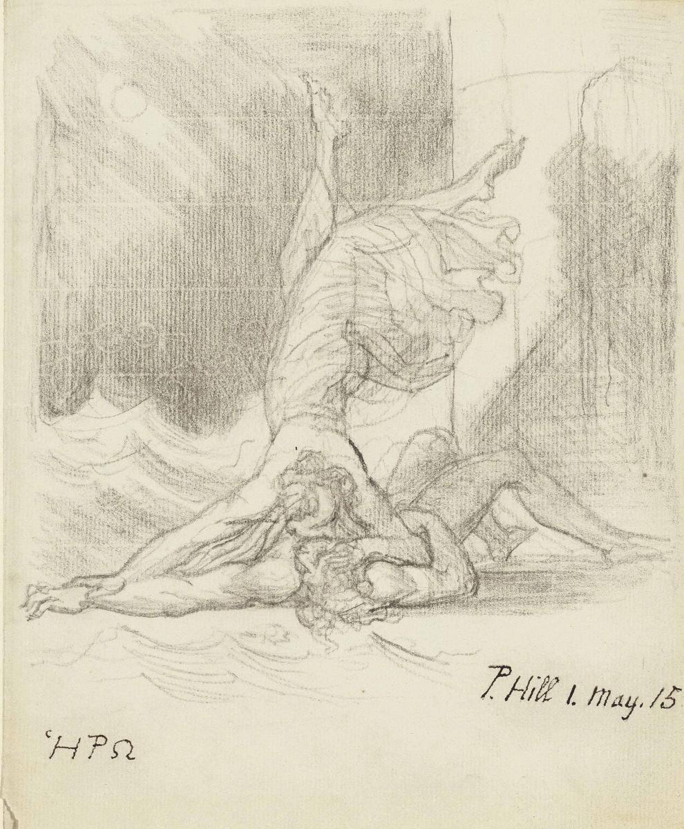 Johann Heinrich Fuessli. Gero kisses the drowned Leander