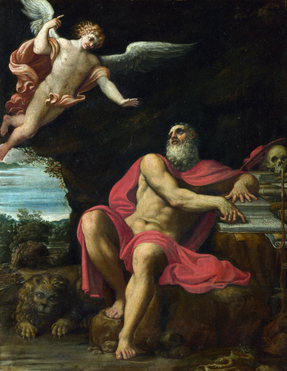 Доменикино . Видение святого Иеронима