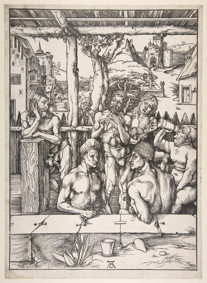 Albrecht Durer. Men's bath