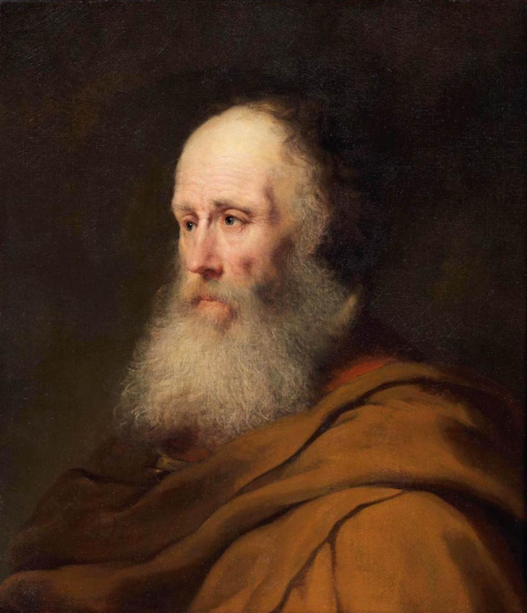 Ян Ливенс. Портрет бородатого мужчины в коричневом плаще