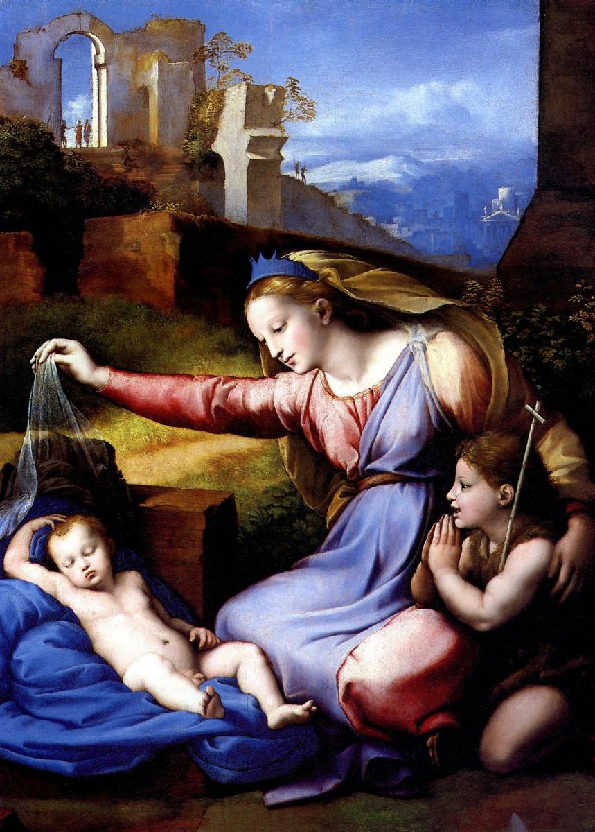 Рафаэль Санти. Мадонна в голубой диадеме