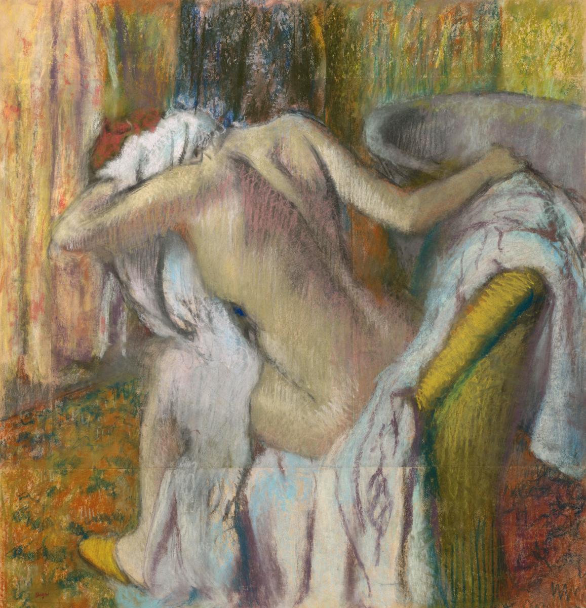 Эдгар Дега. После ванны. Женщина вытирается
