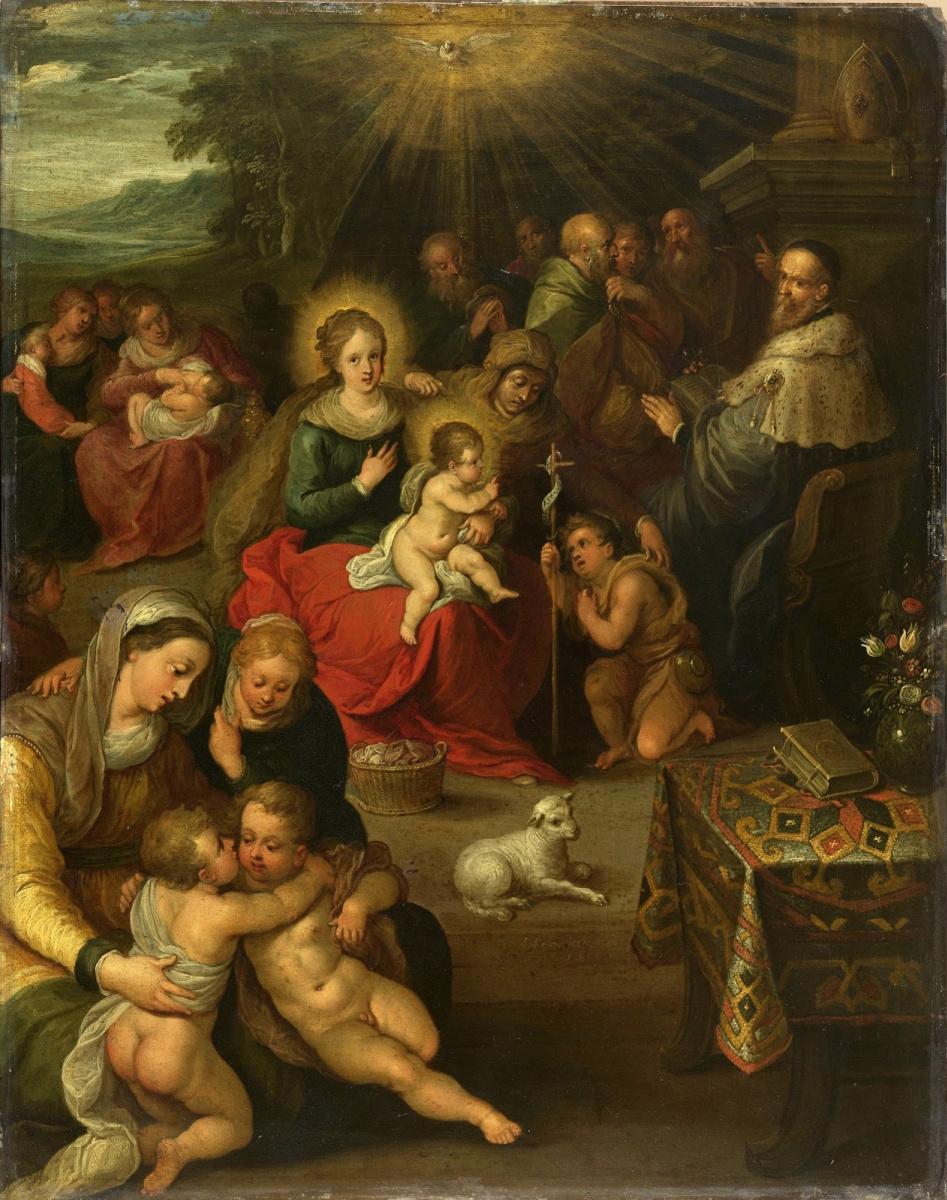 Франс Франкен Младший. Аллегория младенца Христа как Агнца Божьего. 1616