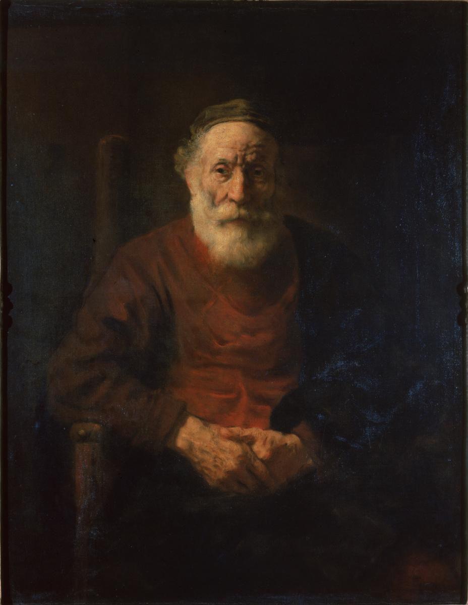 Рембрандт Ван Рейн. Портрет старика в красном