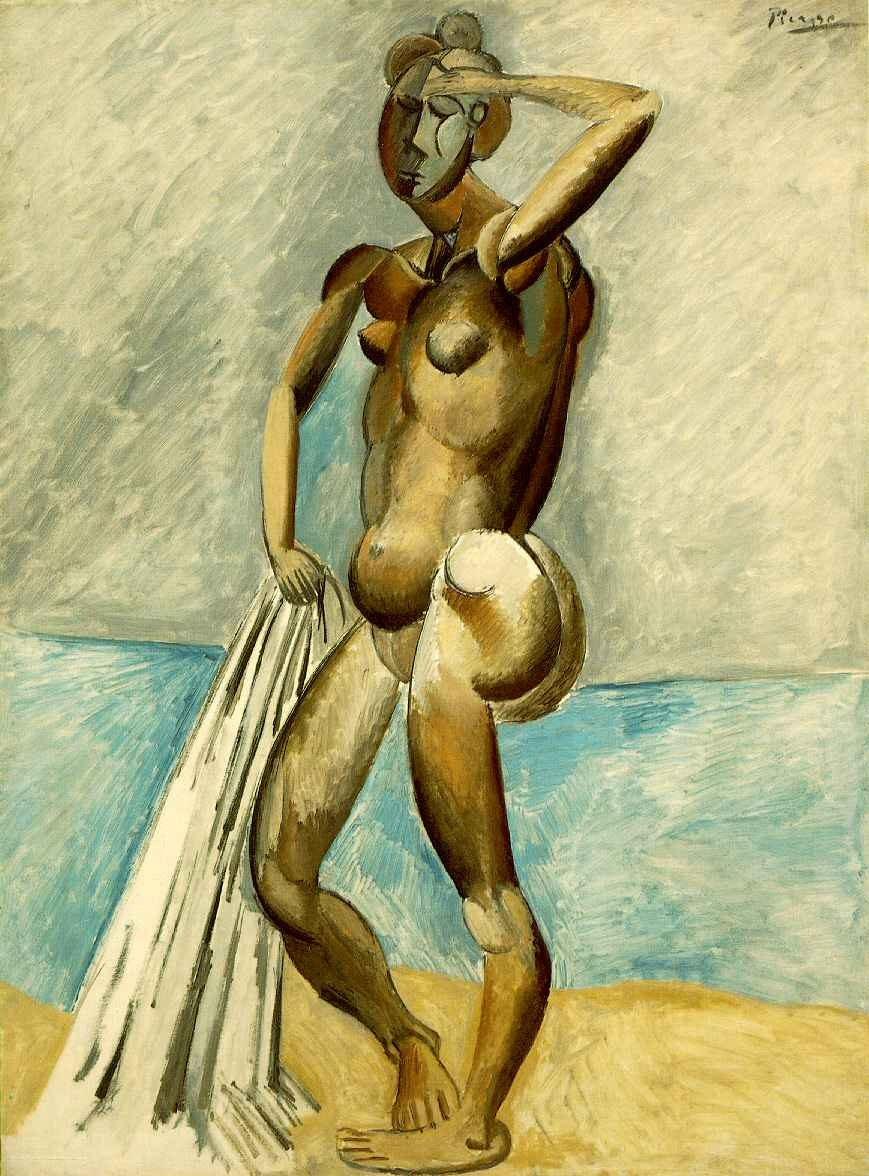 Пабло Пикассо. Обнаженная на берегу моря. Купальщица