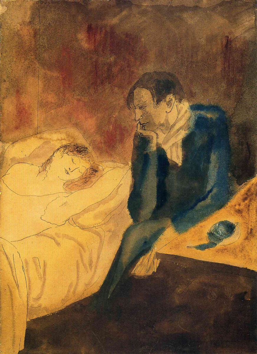 Пабло Пикассо. Спящая женщина. Медитация