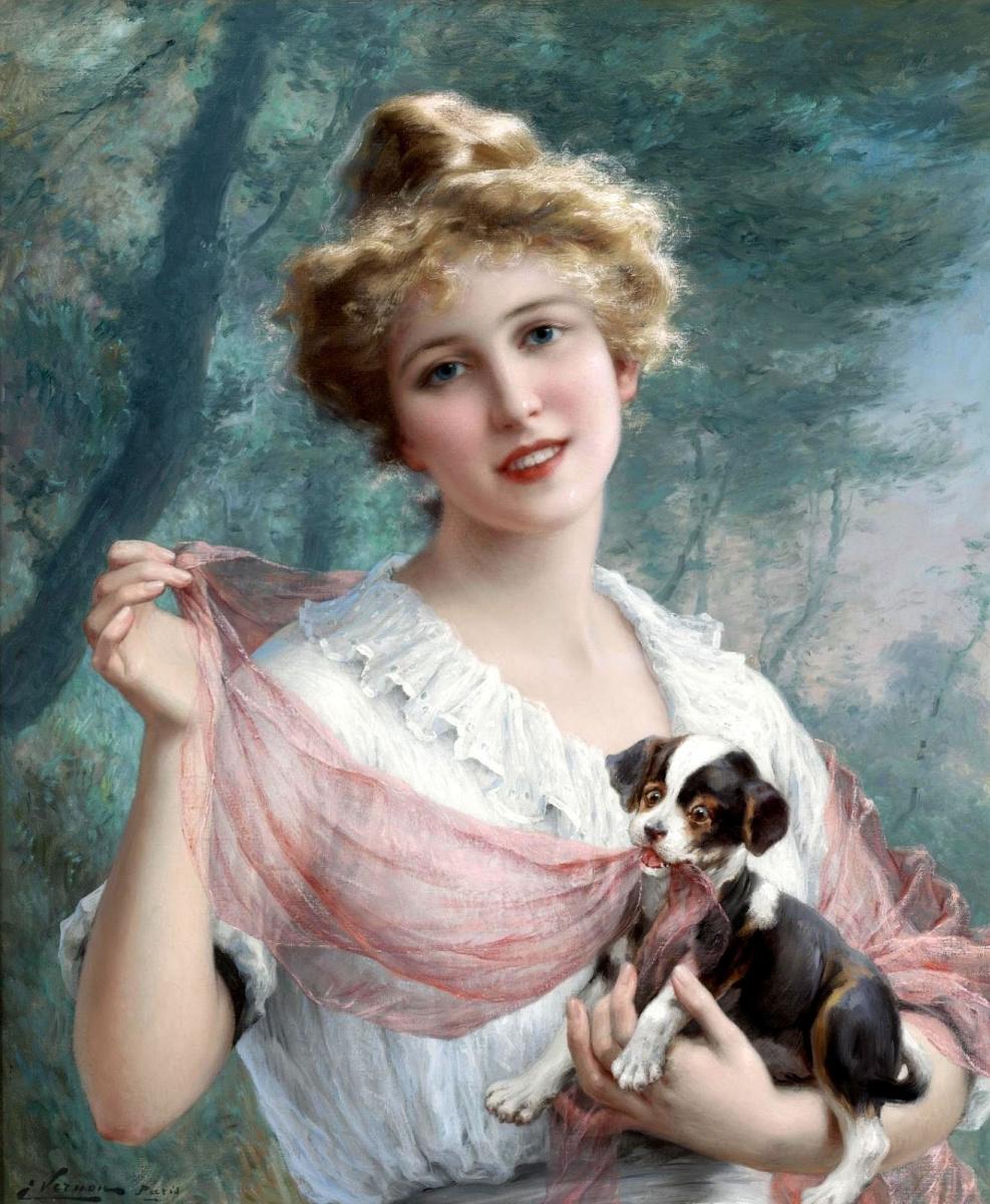 Эмиль Вернон. Вредный щенок. 1915
