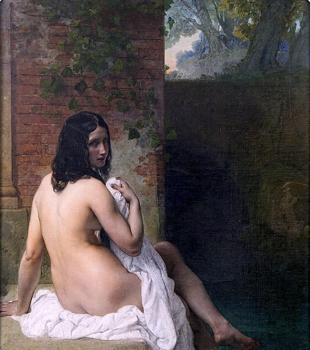 Francesco Ayets. Bather sitting back