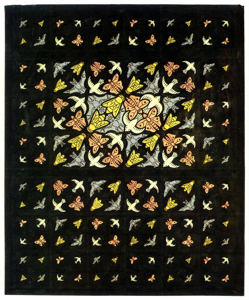 Мауриц Корнелис Эшер. Предварительный рисунок украшенного потолка для Филипс
