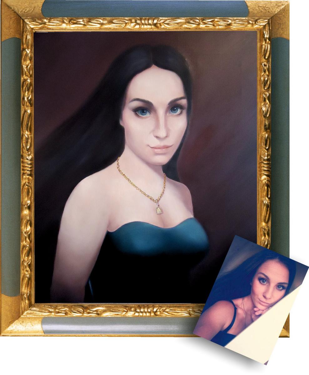 Sergey Mogilevsky. Portrait of a girl