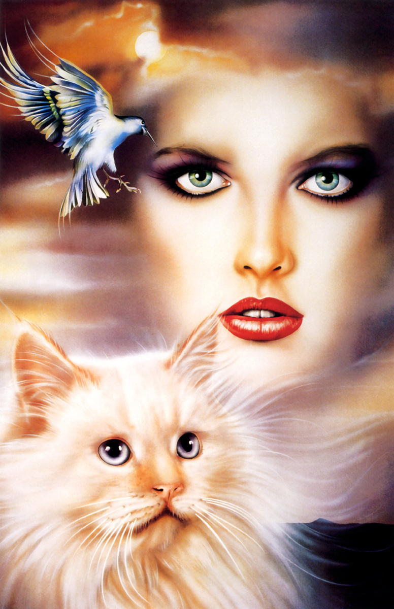 Келли. Женщина, кошка и птица