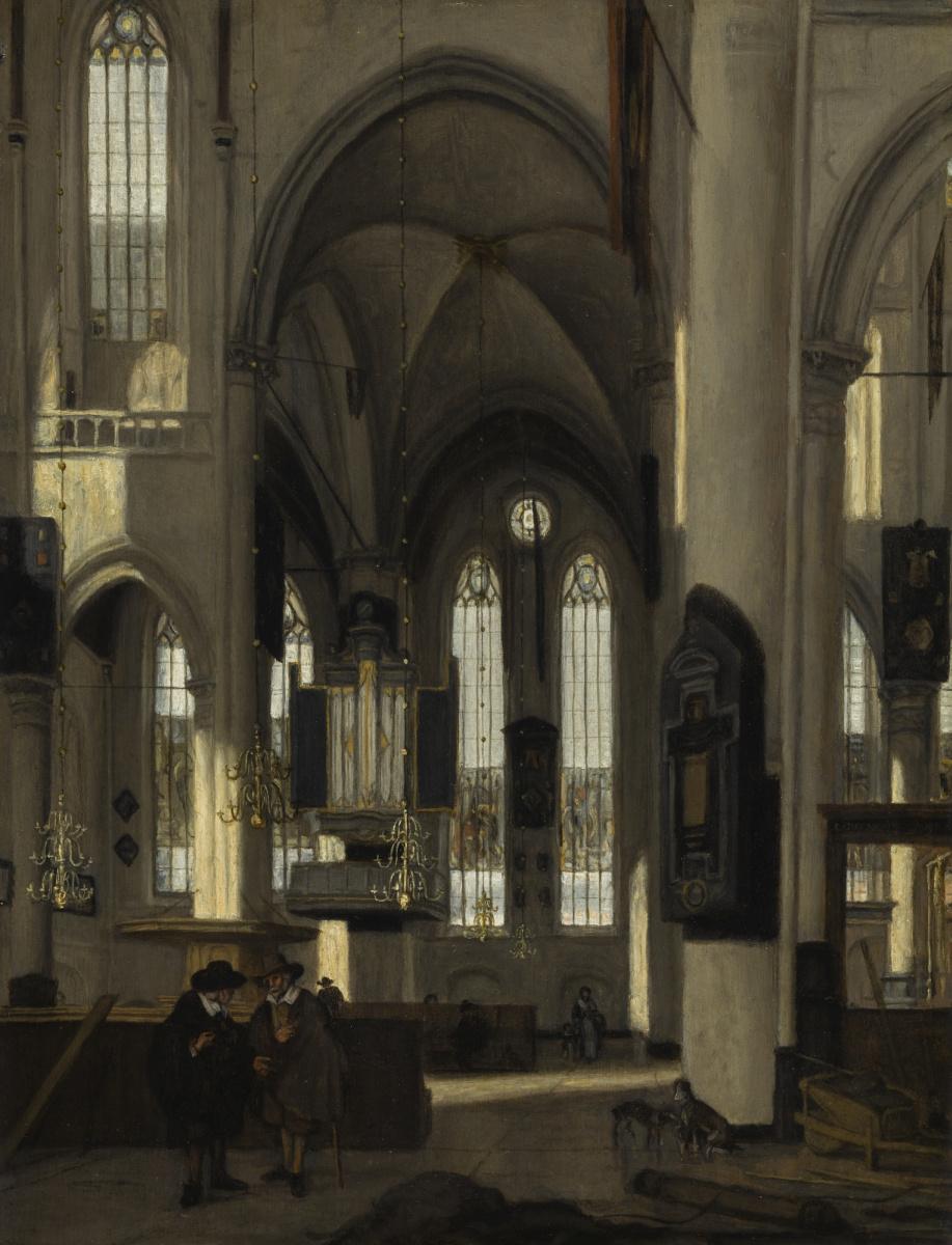 Эмануэль де Витте. Интерьер готической протестантской церкви