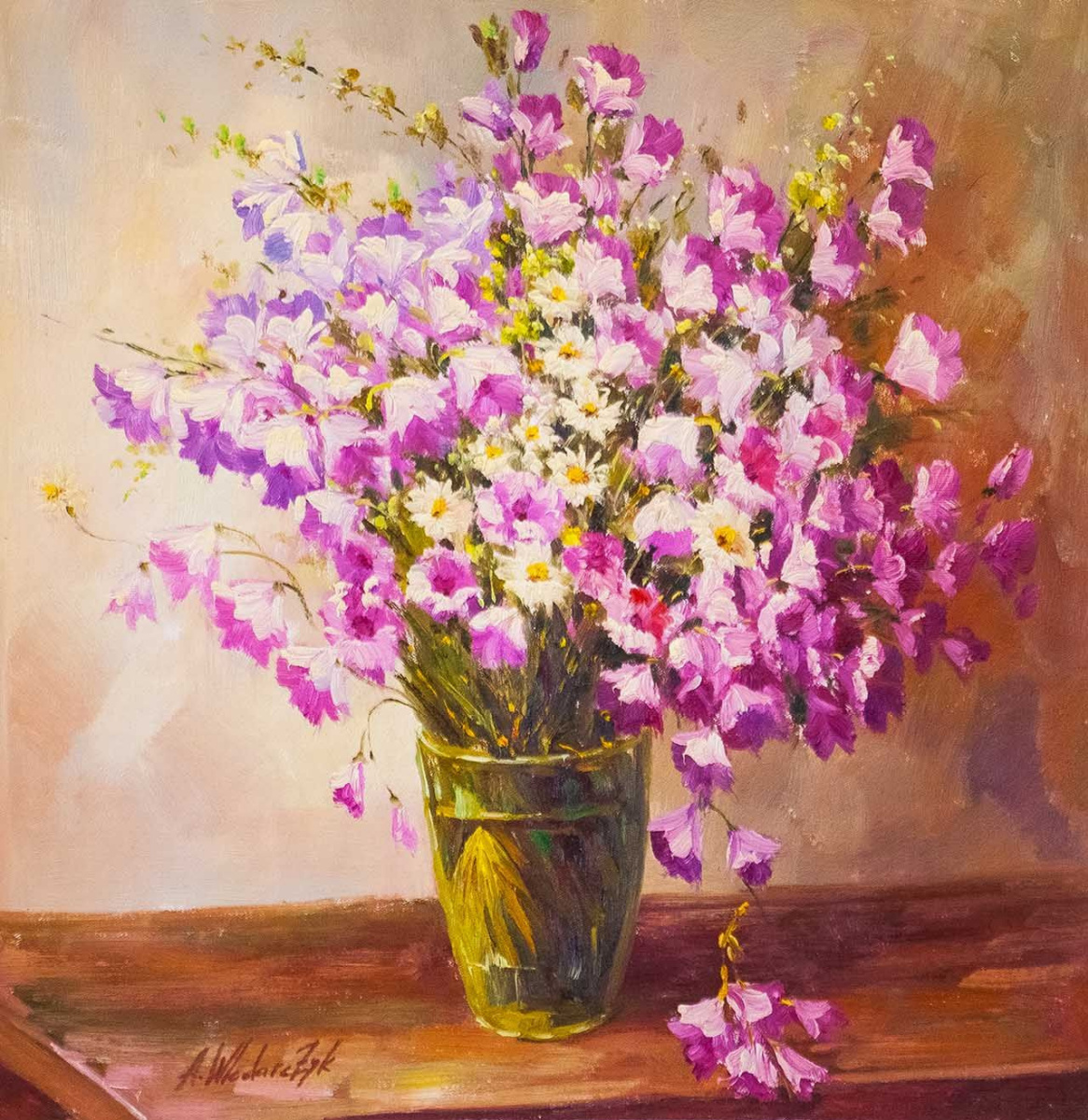 Andrzej Vlodarczyk. Bouquet. Bells and daisies