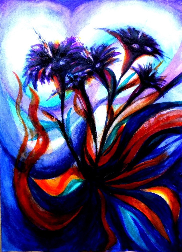 Alex Visiroff. Neon flowers of the night