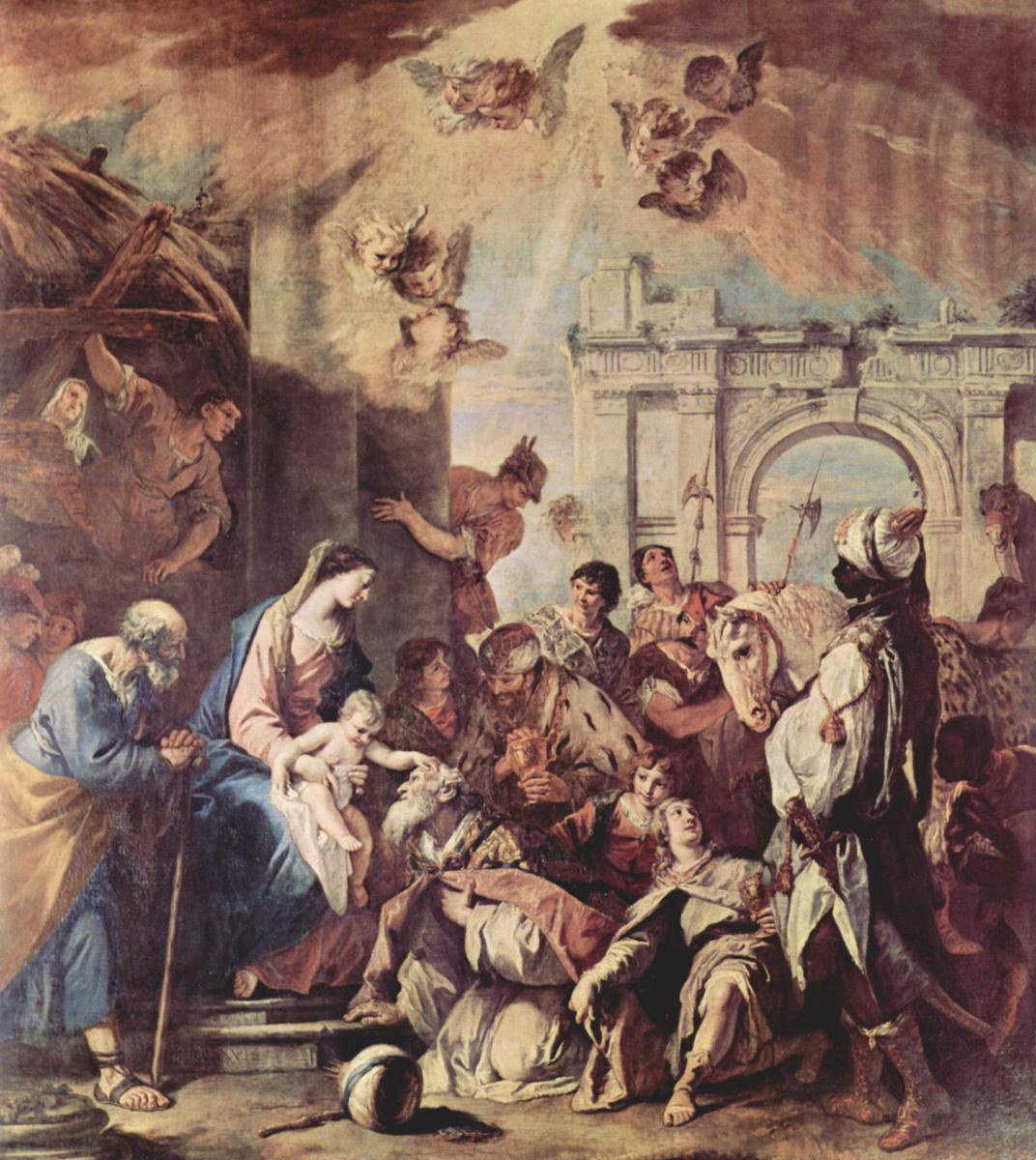 Sebastiano Ricci. The adoration of the Magi