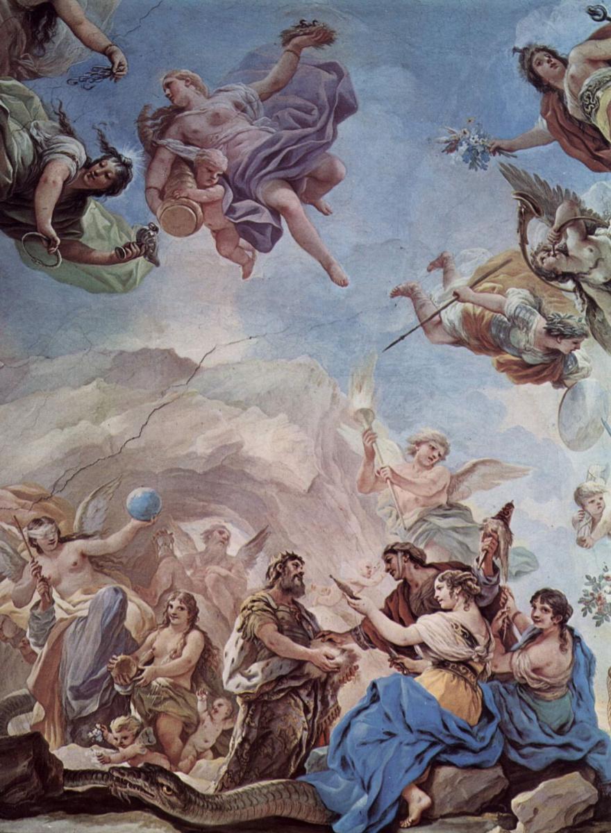 Лука Джордано. Фрески в галерее дворца Медичи-Риккарди во Флоренции. Сцена: Сотворение человека