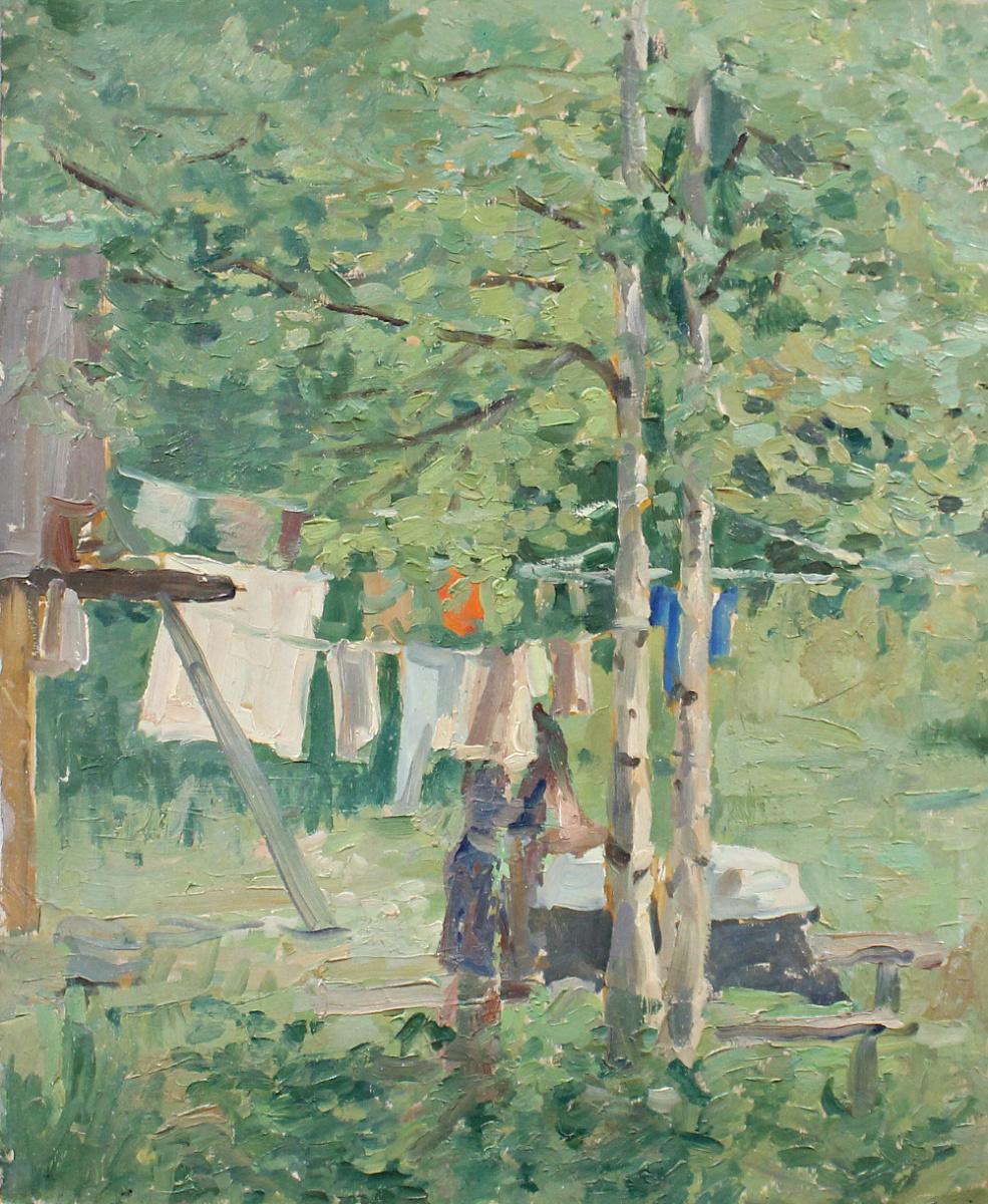Ksenia Vladimirovna Vyshpolskaya. Washing