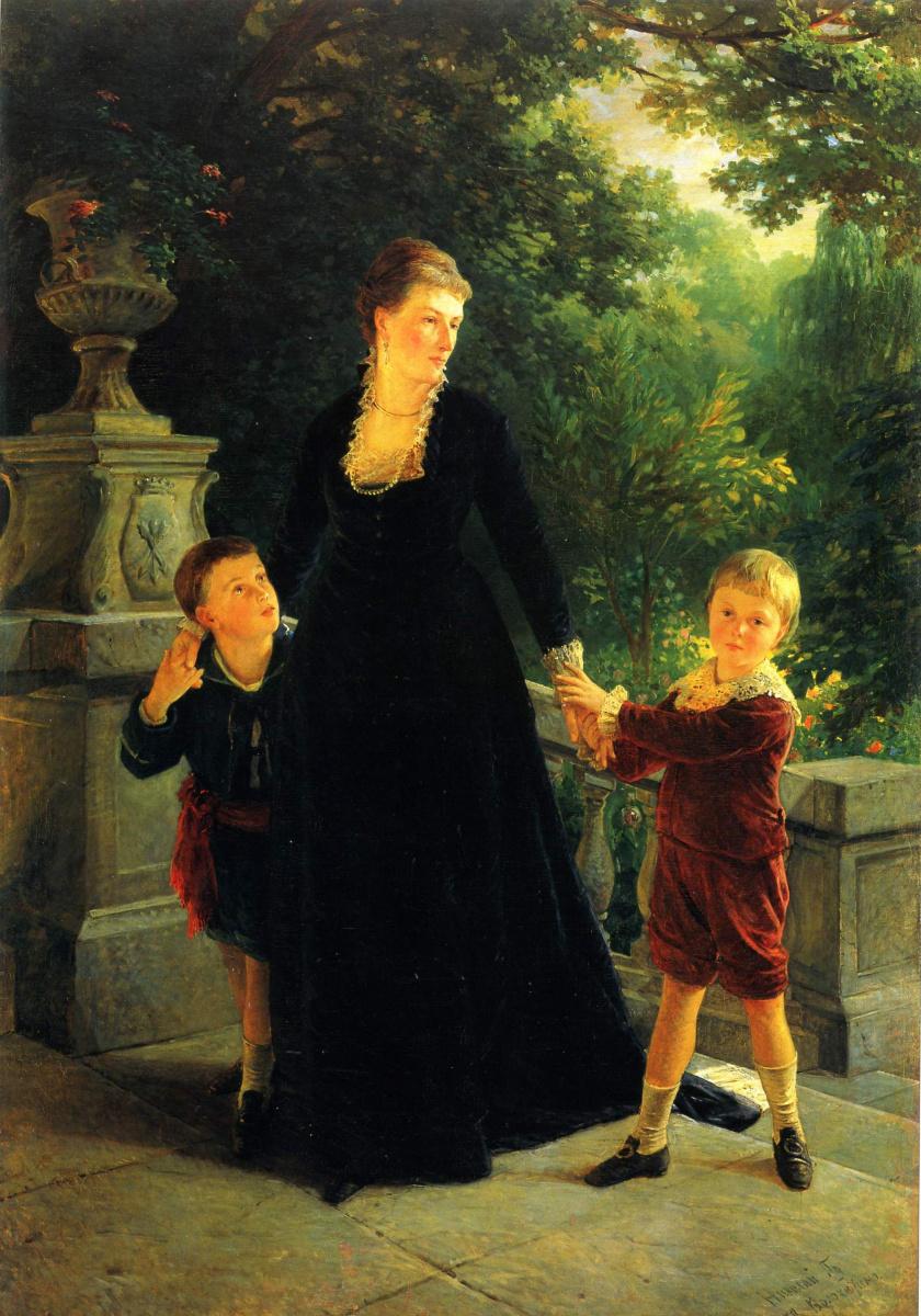 Nikolai Nikolaevich Ge. Portrait of M. A. Skoropadska sons